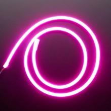 Лента Гибкий Неон 12*5мм 120-9.6Вт 12ВIP67-B блистер 5м, розовый