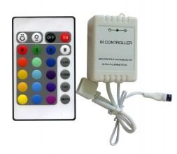 Контроллер LN-IR24B-12 (72Вт/12В) с ИК ПДУ 24 кнопки