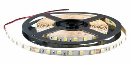Лента светодиодная Белая (двухслойная) 12В SMD 5050 60led 14,4Вт 6500К IP33 LS