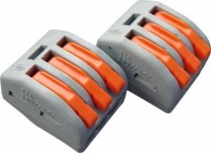 СМК-413 клеммная колодка с рычагом 3х(0,08-2,5мм2) (цена за 1шт., уп 50) тип WAGO