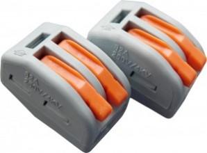 СМК-412 клеммная колодка с рычагом 2х(0,08-2,5мм2) (цена за 1шт., уп 50) тип WAGO