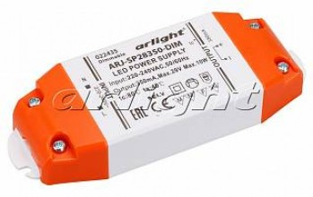 Блок питания ARJ-SP28350-DIM (10W, 350mA, PFC, Triac)