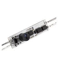 ИК выключатель встраиваемый для профилей , срабатывает на движение руки на плате 55х10мм.