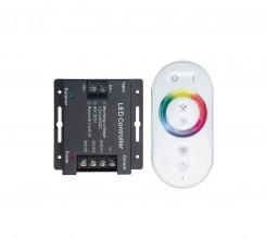 Контроллер 12V 288W(24V 576W) 24A RGB с кольцевым сенсорным  радиопультом