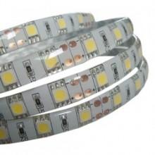 Лента светодиодная Белая (теплый цвет) 12В SMD 5050 3000К 60led 14,4Вт IP65 LS
