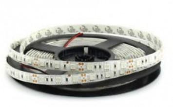 Лента светодиодная Теплая 12В SMD 5050 60led 14,4Вт 3000К SWG
