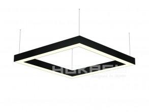 Светильник 64W Белый теплый 0510102 Frame B 3K (64/625x625) 220V IP20 четырехугольный универсальный черный
