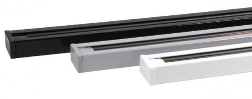 Шинопровод 1м (токоподвод и заглушка в комплекте) Черный