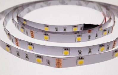 Лента светодиодная Белая 12В SMD 5050 30led 7,2Вт 6500К LS