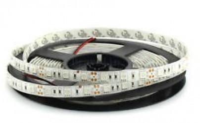 Лента светодиодная Белая 12В SMD 5050 6500К 60led 14,4Вт IP65 SWG