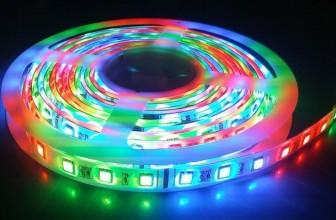 Лента светодиодная RGB 12В SMD 5050 герметичная 60led 14,4Вт LS